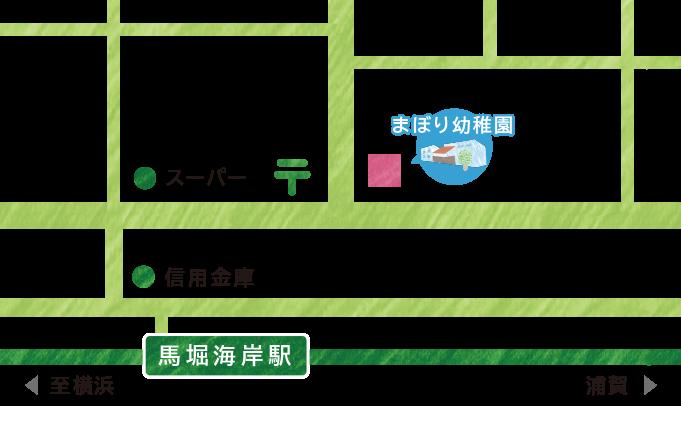 まぼり幼稚園地図
